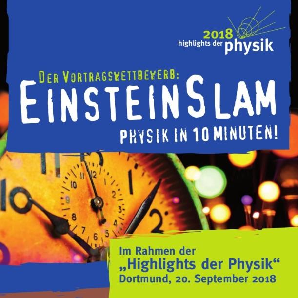 Ausschnitt aus dem Einstein-Slam-2018 in Dortmund Plakat