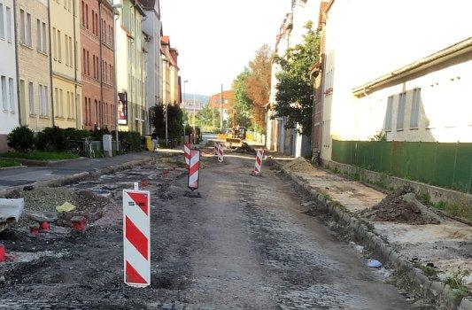Straßenaus- und Kanalbauarbeiten in Jena - Symbolfoto © KSJ