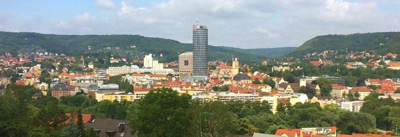 Blick vom Hausbergviertel auf Jena. - Foto © MediaPool Jena