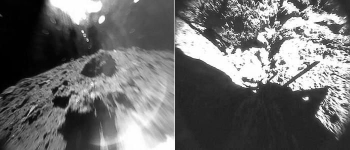 Der Asteroid Ryugu aufgenommen von MASCOT. - Foto © DLR MASCOT