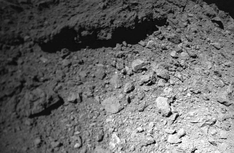 Die Oberfläche des Asteroiden Ryugu. - Foto © DLR MASCOT