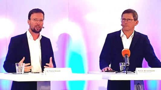 Dr. Thomas Nitzsche und Zeiss AG Vorstandschef Michael Kaschke. - Bildrechte Stadt Jena