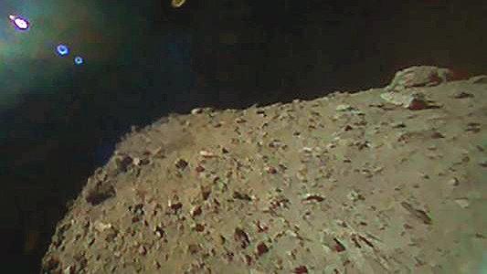Foto vom Anflug auf den Asteroiden Ryugu. - Foto © JAXA DLR