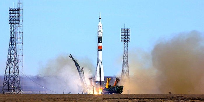 Start eines Sojuz MS-Raumschiffs 2018 in Baikonur, Kazakhstan. - Foto © mulderphoto under FotoliaLicence#147264419