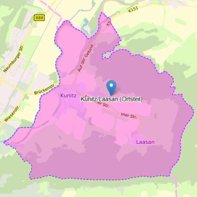 Ortsteil Kunitz_Laasan Karte