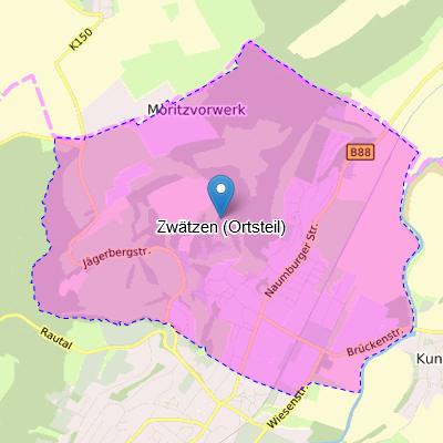 Ortsteil Zwätzen Karte