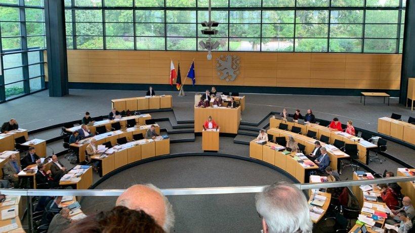 Blick in den Thüringer Landtag. - Foto © MediaPool Jena