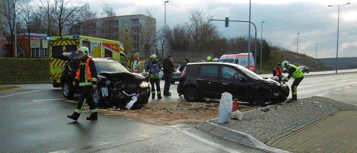 Die Situation am Unfallort. - Bildquelle LPI Jena