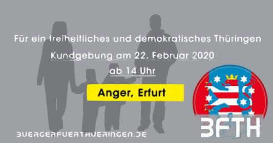 Kundgebung Bürger für Thüringen Teaser 22.02.2020