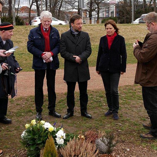 OB Nitzsche im Gespräch mit Pressevertretern in Zwickau - Bildrechte Stadt Jena