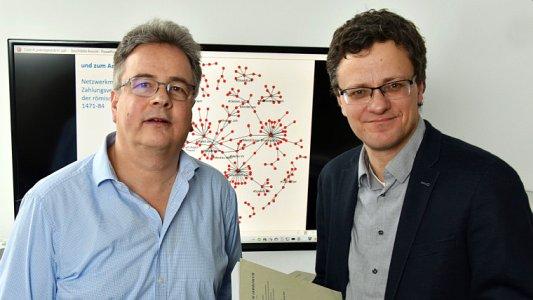 Prof. Clemens Beckstein, Institut für Informatik und Dr Robert Gramsch-Stehfest, Historisches Institut. - Foto FSU Anne Günther