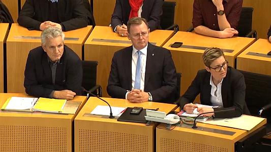 Bodo Ramelow fiel im Thüringer Landtag nochmals in zwei Wahlgängen durch