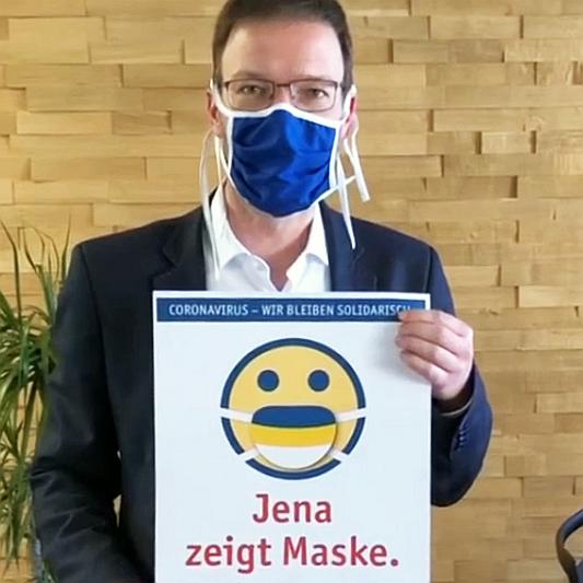 Jena zeigt Maske - Bildrechte Stadt Jena