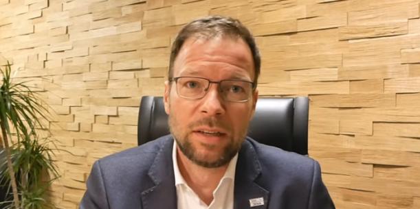 Jenas Oberbürgermeister Dr. Thomas Nitzsche in einer Videoerklärung - Bildquelle Stadt Jena