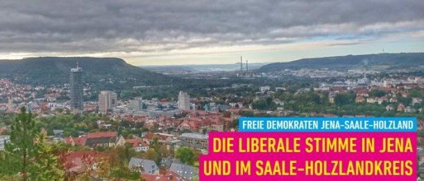 Startfenster der FDP Jena-Saale-Holzland. - Abbildung © FDP Jena-Saale-Holzland - abgerufen im Februar 2019