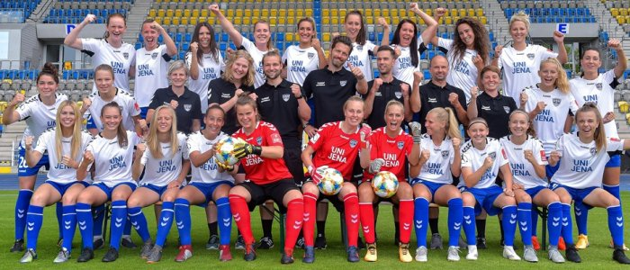 Die 1. Mannschaft des FF USV in der Saison 2019-2020. - Foto © FF USV Jena