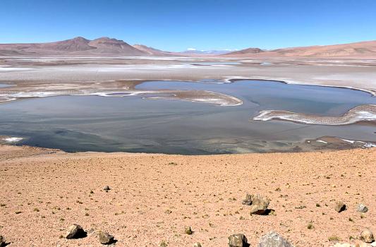 Die Quisquiro Salzwüste im südamerikanischen Altiplano repräsentiert die Art von Landschaft, wie sie einst im Gale-Krater existiert hat, den Curiosity erforscht. - -Foto Maksym Bocharov