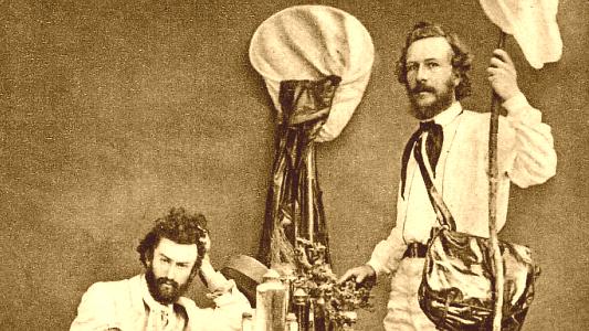 Ernst Haeckel und Nikolai Miklucho-Maclay in den 1860ern. - Foto Sammlung Hoßfeld