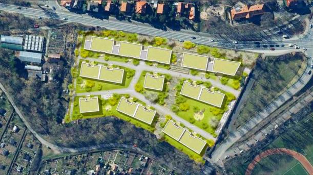 WGCarl Zeiss Erlenhöfe – Lageplan des Wohngebietes. - Bildrechte Stadt Jena