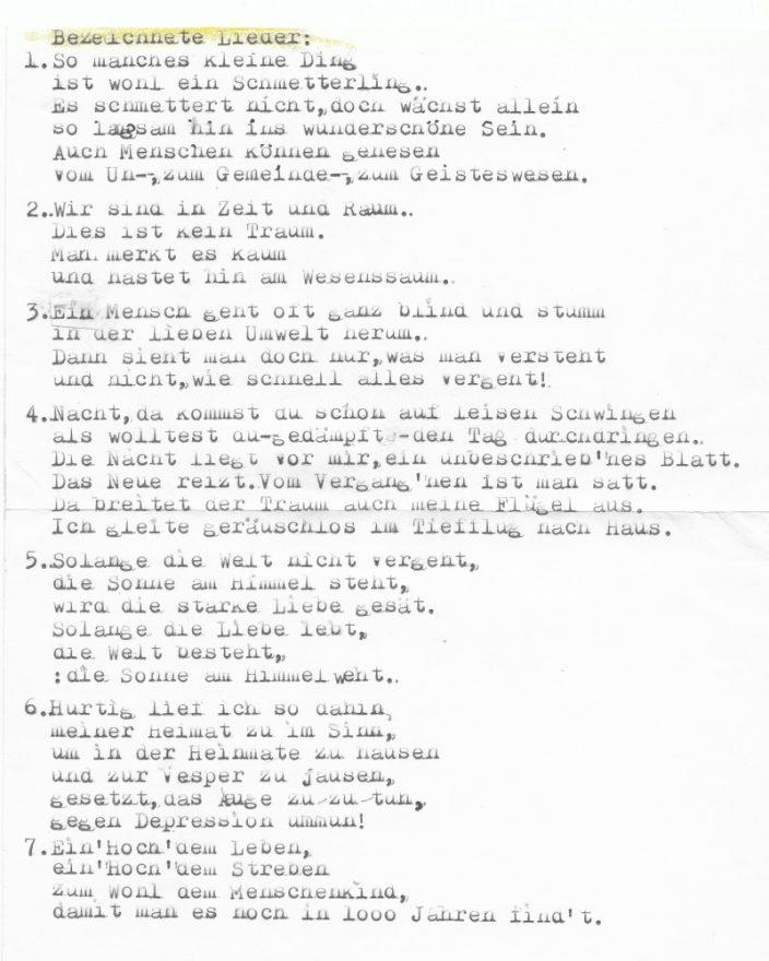 17 TAGE EUROPA - Mike Korff - Bezeichnete Lieder - 01.08.2002