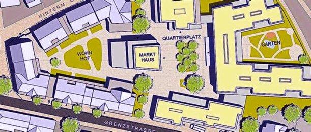 Ausschnitt aus dem überarbeiteten B-Plan Altes Gut Burgau - Abbildung © MediaPool Jena