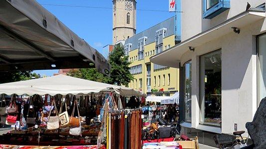 Der ehemalige Jahrmarkt in Jenas Innenstadt. - Foto JenaKultur