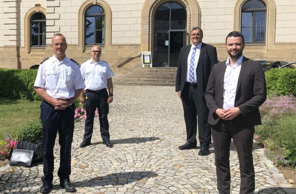 Peter Schörnig, Thilo Schütz, Kurt Dannenberg, Benjamin Koppe. - Foto Stadt Jena