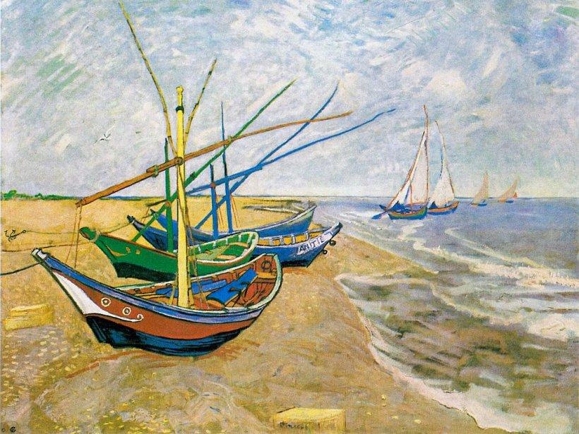 Vincent van Gogh Fischerboote am Strand von Saintes-Maries 1888. - Foto © Van Gogh Museum Amsterdam